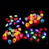 Wholesale Eyeball Halloween - Pumpkin String Lamp Colourful Originality Halloween Decor Props For Mini Eyeball LED Night Light Many Styles 11 5xy C R