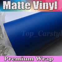 Wholesale Matt Blue Wrap - Dark Blue Matte Vinyl Car Wrap Film With Air Bubble Free   Matt Vinyl For Vehicle Wrapping Body Covers foil Vinyle 1.52x30m Roll (5ftx98ft)