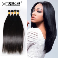Wholesale cheap braiding human hair - 8A Braid Hair Peruvian Human Hair Bulk For Braids Cheap Straight Hair Extensions 50g pcs 4 Bundles Bulk No Weft