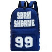Wholesale Red Boy London - Sbrm Shbrme backpack 99 school bag London boy daypack Cool canvas street rucksack Punk design daypack