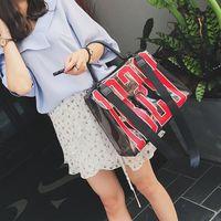 Wholesale Korean Bags Black Tote - Shouder Bag New Korean Fashion Women Simple Luxury Designer Tote Green Black Letter Handbags Bag Trend Women Crossbody Bags