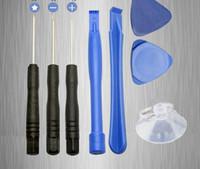 iphone emici toptan satış-8 1 tornavida Enayi Pry Onarım Açılış Tool Kit Set iphone 4 4 s 4g 5 5c 5 s 6 6 artı 100 takım / grup