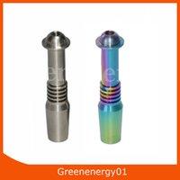 collecteur de chaleur achat en gros de-Clou électrique titane 14mm ou 18mm Nectar Collector Inverser Nail Grade Titanium Tip 2 pour s'adapter à la bobine chauffante 10mm