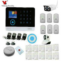 Wholesale Burglar Alarm Sirens - Wholesale- YobangSecurity Wireless Wifi GSM SMS ANDROID IOS APP Home Burglar Security Alarm System Wireless Siren Outdoor Wifi IP Camera