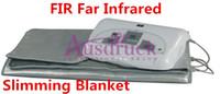 Wholesale far blanket resale online - Fast shipping body slimming Sauna Blanket FIR Far Infrared sauna detox weight loss body shaping equipment