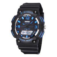 Wholesale Mens Waterproof Swimming Watches - 50M Waterproof SKMEI Mens LED Digital Military Watch Dive Swim Dress Sports Watches Fashion Outdoor Men Wristwatches Man Clock