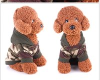 Wholesale Cheap Male Sweater - Cheap dog clothes t shirt tee Sweatshirt Poodle Camouflage Coats Warm Hoodies dogs pets clothing Autumn Winter Dog Fleece Camouflage Sweater