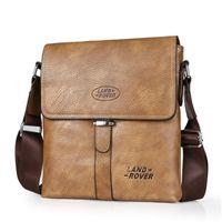 Wholesale Brand Name Messenger Bag - 2017 Retro Soft Leather Messenger Bags Men Small Shoulder Travel Crossbody Luxury Bags Male Handbags Brands Names
