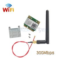 Atacado- DHL Atacado 20pcs / lot WiFi Link 5100 Half Size Wireless MINI PCI E Card 512AN_MMW 802.11a / b / g / n 2.4 GHz e 5.0 GHz 300 Mbps