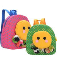 Wholesale Backpack For Preschool - Korean Style Cute Octopus Schoolbags Kindergarten Preschool Boys Girls Backpack Kids Dots Pattern Cotton Fabic Backpacks for Brithday Gifts
