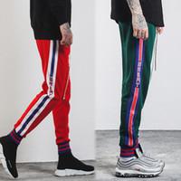 Wholesale Hip Hop Pants For Boys - Super Hot Hip Hop Stars Vintage Track Pants Sportswear Sport joggers pants for boys 3 colors S-2XL