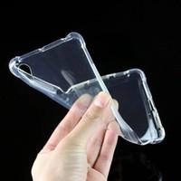 ingrosso silicone caso sony xperia z5-Custodia in silicone TPU trasparente trasparente per Samsung Xperia XA1 Ultra XZs L1 X prestazioni XA XZ premium E5 M5 M4 Z5 Custodie