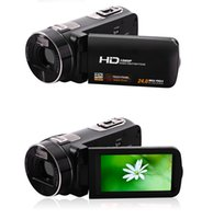Zoom de la cámara HDV-Z8 1080P HD 24MP 16x digital de vídeo digital con rotación Digital LCD de pantalla táctil mini videocámara