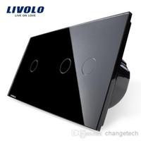 Wholesale Livolo Touch Glass - EU type switch Livolo Luxury Crystal Glass Panel,Touch Control Wall Light Switch,VL-C701-12 VL-C702-12