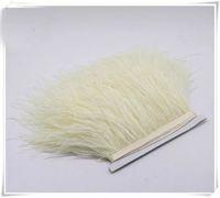 zanaat tüyleri tüyler toptan satış-Ücretsiz kargo 10 yards / lot 5-6 inç genişliğinde devekuşu tüy kesme saçak gelinlik dikiş el sanatları için skrit kaynağı