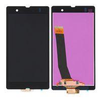 digitalizador xperia z touch al por mayor-Pantalla LCD para Sony Xperia Z L36h L36i C6606 Pantalla LCD digitalizador Pantalla táctil de repuesto con herramientas de montaje completo