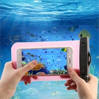 Wholesale Travel Bag For Iphone - Waterproof Screen Touch Bag Case for apple iphone 4s 7 5s 6 6s plus Travel Swimming Underwater back PVC Pouch cover