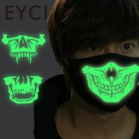 Gros - EYCI Ghoul Lumineux Squelette Humain Anti-Poussière Vent Face Masque Ghost Danse Et Hiver Mode Anime Cosplay
