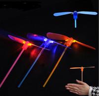 Wholesale Toy Airplane Ufo - LED UFO Fly Toy Luminous Dragonfly Flashing Flying Electronic Kid Birthday Party Arrow YH104