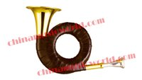Atacado-China Música World Gold Lacquer bolso Hunting Horn (CMWFH-743)