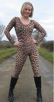 Wholesale Leopard Costume Xl - Leopard Costume Lycra Zentai Catsuit Fancy Dress,