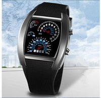 Wholesale Innovative Led Watch - NEW Selling Luxury Flash LED Digital Silicone Watch Innovative Car Meter Air Race Sports Dial Led Electronic Binary Watches Mutilcolor