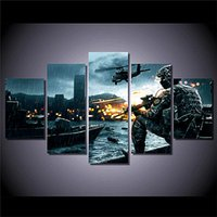 Wholesale Battlefield Figure - Battlefield Scenario,5 Pieces Home Decor HD Printed Modern Art Painting on Canvas (Unframed Framed)