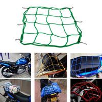 Wholesale Tank Motorcycle Helmets - 6 Hooks Motorcycle Hold down Fuel Tank Mesh Net Luggage Helmet Mesh Net Mesh Bungee 5 colors