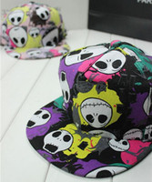 Wholesale Wholesale Skull Flats - 2014 star love 2014 new skull hip-hop baseball cap flat -brimmed hat Korean version of the influx of wide- brimmed hat hip-hop
