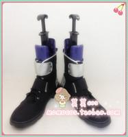 Wholesale Kirito Boots - Wholesale-Sword Art Online SAO Kirito Kirigaya Kazuto cos Cosplay Shoes Boots shoe boot #JZ178 anime Halloween Christmas