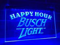 Wholesale Neon Busch Beer Signs - LA620b- Busch Light Beer Happy Hour Bar LED Neon Light Sign