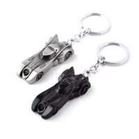 Wholesale Ring Models For Women - Batman Car Model Keychains Arkham Knight Batman v Superman Batmobile Collectible Keychain key rings Cool Accessories For Men zj-0903718