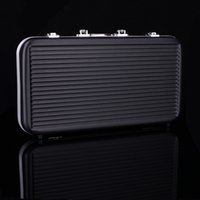 Wholesale High Quality man luxury gift portable chips poker ABS Box counter code yard case Casino Texas Holdem black suitcase light stable
