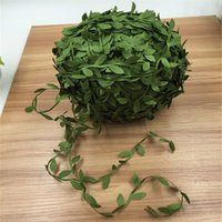 Wholesale Fake Flower Crafts - 200M Silk Artificial Leaf Leaves Ivy Flower Wedding Decoration DIY Scrapbooking Craft Decorative Garland Wreath Fake Flower