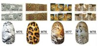 Animal Design-Wasser-Abziehbild 8 Pattern Leopard Snake Tiger Wassertransfer Nail Sticker 12Sheet / Lot Nude Packing