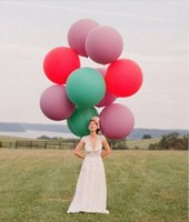 "Wholesale Balloon Wedding Arches - Wedding Decoration 36"" 90CM Helium Big Latex Party Large Giant Balloons Decoration Metallic Inflatable Air Balloons Arch 1 pcs"