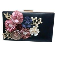 Wholesale wholesale clutch purse frames - Wholesale- Hot New The Chain Women Handbags The Appliques Pattern Flowers Wedding Dinner Bags Hand Evening Bags Purses Clutch Box Package