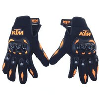 Wholesale Motorcycle Full Finger Protective - KTM Kawasaki Fashion New Full Finger Motorcycle Gloves Motocross Luvas Guantes Green Orange Moto Protective Gears Glove for Men