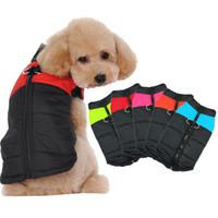 Wholesale dog bow sunglasses online - Hot Sale Big Dog Pet Winter Warm Jacket Coat Padded Waterproof Hoodie Puppy Winter Clothes Pet Costume Pet Supplies
