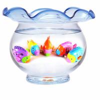 игрушка из ветровой рыбы оптовых-Оптовая продажа-новый ванна Заводной ветер вверх пластиковые рыбы ребенок не боится принимать ванну смешные игрушки для бассейна детские детские игрушки