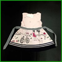 Wholesale Belt Bud Dress - fashion lovely style girls belt dresses cute children vestidos high quality girls clothing set baby clothes fast free shipping factory price