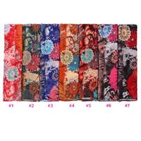 Wholesale Bali Yarn Shawls - 2016 New from india Scarf Fashion Hot sale Graffiti flower Print Scarf Bali yarn Shawl Wrap for Women