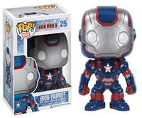 Wholesale Iron Man Funko - New hot sale Funko POP Action Figure iron patriot war machine iron man Collectible Kids Toy Gift for Children 10CM