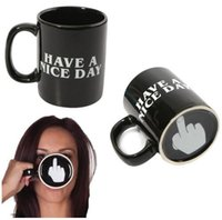 Wholesale Funny Mugs - Creative Have A Nice Day Coffee Mug 350ml Funny Middle Finger Mugs For Coffee Tea Milk Novelty Birthday Gifts