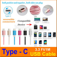Wholesale Google Cheapest Tablets - Cheapest Note 7 USB 2.0 Type C Cable Male Data Sync Cable (3.3 ft   1m) Apple New Macbook 12 Inch Nokia N1 tablet Google Chrome colorful 500