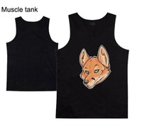 Wholesale Muscle Foxes - Fox New Fashion Men's T-Shirts Tops Vest Muscle Sleeveless men Tee Sport Gym Wholesale free shipping