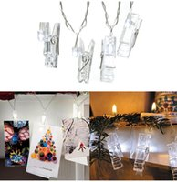 Wholesale Christmas Decoration Clips - 5M 20Led Christmas lights new year party wedding home decoration, clip photo string lights,led christmas clip light