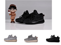 Wholesale Shoes For Gilrs - Pirate Black kid Kanye Milan boost 350 for children shoes Turtle Dove Kids BOOTS 350 shoes boys and gilrs Child Running sneaker