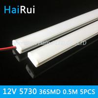 Wholesale Smd 3528 Package - 5pcs package 50CM 5730 rigid strip LED Bar Light Kitchen led light bar 36LEDs LED DC 12V LED Hard LED Strip with U falt cover