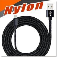 Wholesale Multi Data - Android Charging Cable Multi length 3.3ft 5.5ft 9.8ft Nylon Fabric Braided High Speed Data Sync USB to Micro USB Cables For Samsung S7